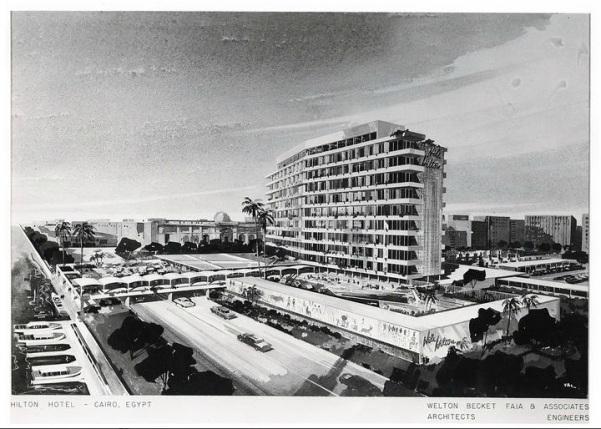 التصور التصميمي الاولي - ميلتون بيكيت - فندق النيل هيلتون