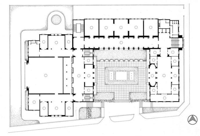 المسقط الافقي لمبنى جامعة الدول العربية