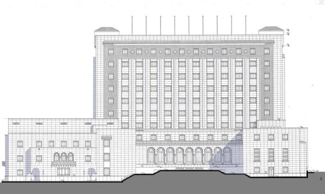 الواجهة الرئيسية لمبنى جامعة الدول العربية